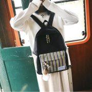 Balo đen sọc phong cách Nhật Bản 6