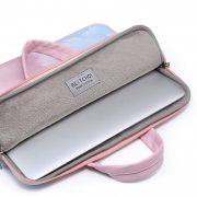 Túi đựng Laptop da họa tiết lông vũ 4
