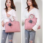 Túi đựng laptop JQmei móc khóa hạc hồng 5