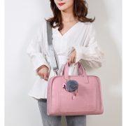 Túi đựng laptop JQmei móc khóa hạc hồng 7