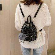 Balo mini vải dạ Tweed 4