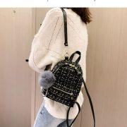 Balo mini vải dạ Tweed 6