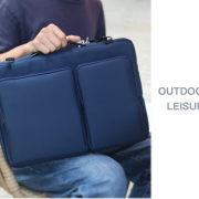 Túi đựng Laptop 3 ngăn lót bông mềm chống sốc – Xanh 5
