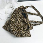 Túi vải tote họa tiết da beo 4